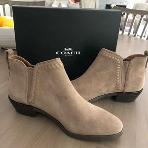 Coach suede ankle booties.